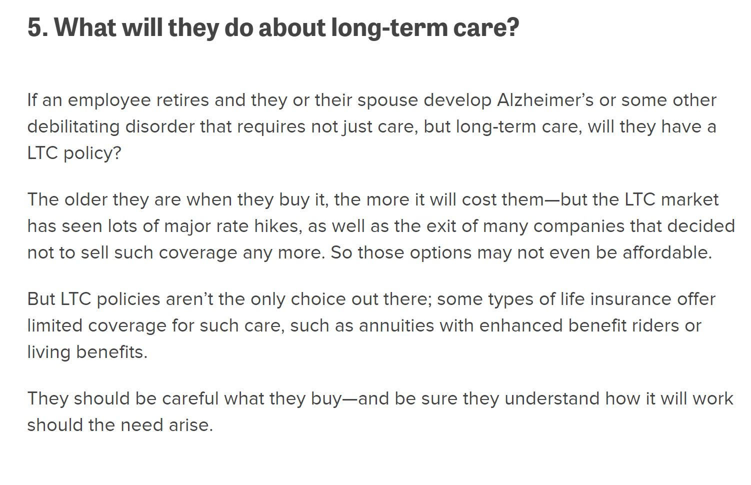 Is Long Term Care Insurance On Your Retirement Planning