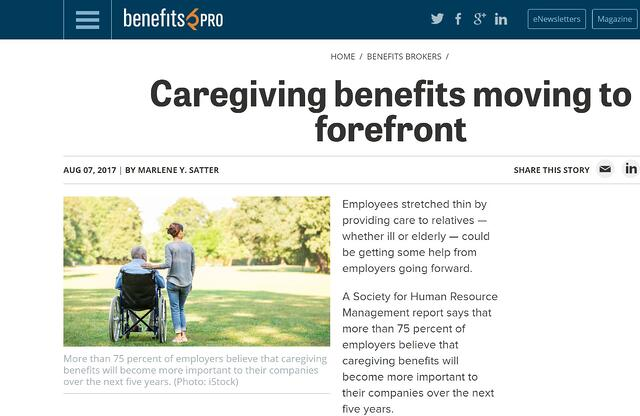 Caregiving benefits