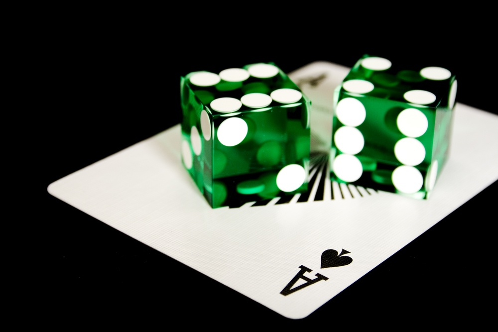 ace and dices on black baclground