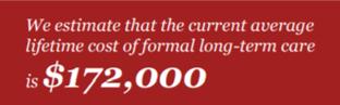 average lifetime cost of LTC